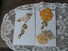 VINTAGE RIBBONWORK FLOWERS 1920'S SILK ROSES