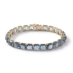 "IPPOLITA Rock Candy Bracelet in 18K Gold, London Blue Topaz, 18K Gold Length: 7.4""Gemstone: London Blue Topaz"