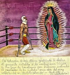 Original archival art prints from Abel Ortiz-Acosta, signed! Loteria/Lucha libre