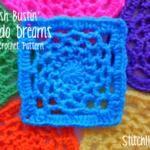 Stash Bustin' - Dream Catcher Square. Thanks for sharing! ¯\_(ツ)_/¯ ☀CQ #crochet