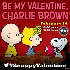 Peanuts News: 'Be My Valentine, Charlie Brown' will air on Valentines Day at 8pm on ABC. :)