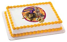 Dreamwork's Madagascar 3 Alex & Friends EDIBLE Image Cake Cupcake Topper Personalized LICENSED
