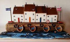 Fishermen's HousesMiniature CottageDriftwood от TTassel на Etsy