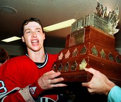 Montreal #Canadiens G Patrick Roy. Roy won the trophy three time... 1986, 1993, & 2001 (Colorado).