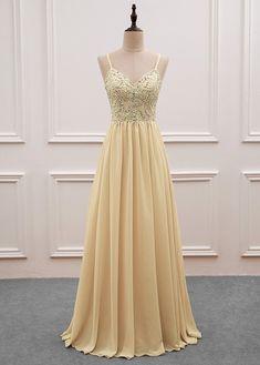 Sequined Spaghetti Straps Chiffon Long Prom Dresses,PL5143 on Luulla
