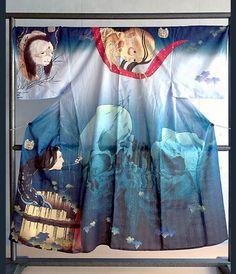 Obake yukata お化け浴衣 (Haunted yukata) for men - Ukiyo-e 浮世絵 - Japan - 2015 Source : shop.kyoto-sai.com