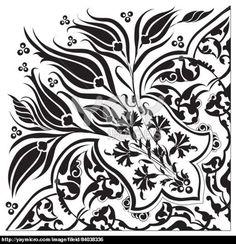 black oriental ottoman design twenty-eight