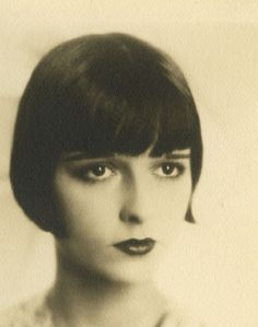 Louise Brooks, 1925......the fabulous hair cut of the 20's.