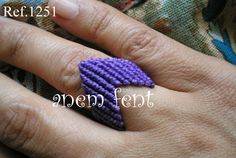 Hilo encerado morado Macrame Rings, Ring Bracelet, Bracelets, Knots, Heart Ring, Floral, Earrings, Jewelry, Diy And Crafts