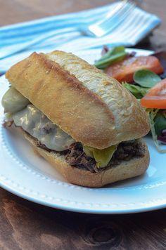 Crock-Pot Italian Beef Sandwiches- From Valerie's Kitchen