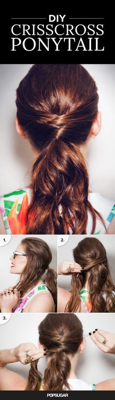 DIY that awesome crisscross ponytail you keep seeing on Pinterest with this simple tutorial!