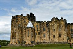 Alnwick Castle, site of filming in Harry Potter movies