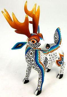 Oaxacan Wood Carving Deer by Luis Margarita Sosa Oaxaca Alebrijes | eBay
