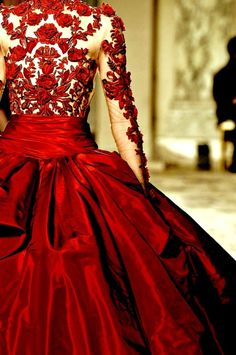 Lady in Red! I love this. I wish I had somewhere that I could wear this too.