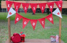 KISSING BOOTH Banner, Valentine's Day Prop or Decor, Photo Booth Banner, Red/White Valentine Banner, Burlap Banner, Valentine Party/Event on Etsy Valentine Banner, Valentines Day, Valentine Party, Doodle, Desserts Valentinstag, Church Nursery, Kissing Booth, Red And White, Burlap