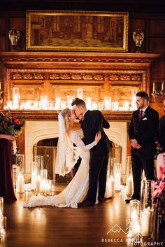 Candlelit Glam Castle Wedding | Sarah + Heath | Rebecca Anne Photography // Thornewood Castle