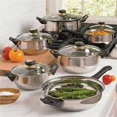 12-Pc Blackstar Stainless Steel Cookware Set