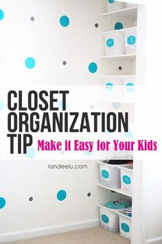 Having trouble keeping your kids' closet organized? Here are 4 Closet Organization Tips for Kids to help them stay organized in the New Year. Organize Your Life, Organizing Your Home, Organize Kids, Organizing Tips, Closet Organization, Organization Ideas, Kitchen Organization, Storage Ideas, Kid Closet
