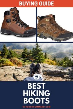 If you're looking for some amazing hiking boots to give you comfort and sturdiness, that are waterproof, long-lasting and stylish too, then check out our list. Hiking Tips, Camping And Hiking, Outdoor Life, Outdoor Gear, Best Hiking Boots, Best Hiking Gear, Mens Gear, Trail Shoes, Survival Gear
