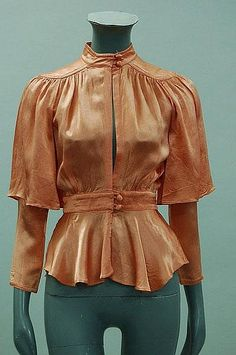 An Ossie Clark for Radley peach satin blouse - Kerry Taylor Auctions