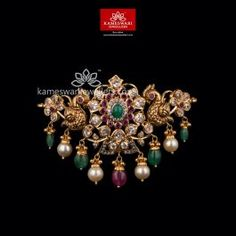 Ruby Necklace Designs, Jewelry Design Earrings, Gold Jewellery Design, Gold Jewelry, Bridal Jewelry, Gold Necklaces, Beaded Jewelry, Vanki Designs Jewellery, Antique Jewellery Designs