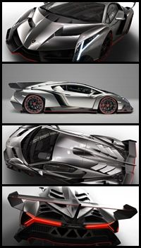 Awesome Automobiles We'd All Like To Own ~ This awesome car vaguely resembling the Bat-mobile is the Lamborghini Veneno!