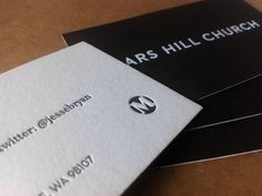 Mars Hill business cards - Always the inspiration.
