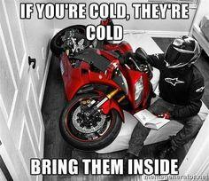 Sportbike cold meme