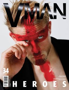 Shirtless Charlie Hunnam Is Giving Sexy, Scary Vibes in V Magazine
