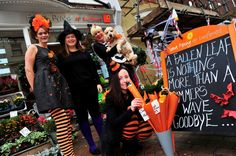 Freaky Friday in Weymouth town centre on October Fiona Penny at Sunflowers. October Half Term, Street 2015, Weymouth Dorset, Stuff To Do, Things To Do, Tourist Info, Waves Goodbye, Seaside Towns, Sunflowers
