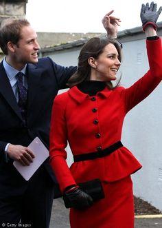 Royal couple visiting St. Andrews University. February 25, 2011.