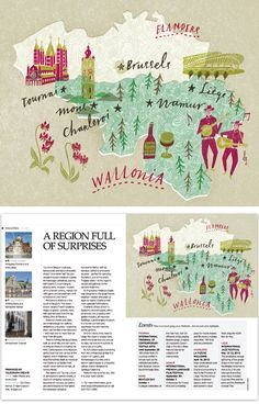 Wallonia (in Belgium) map for the Telegraph by Masako Kubo