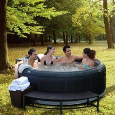 Portable, durable, affordable inflatable bubble spa