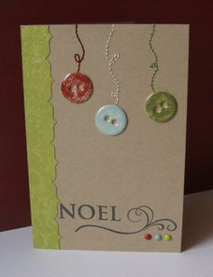 Scrap : Carte de voeux / Noel Diy Christmas Cards, Christmas Sewing, Xmas Cards, Christmas Art, Handmade Christmas, Holiday Crafts, Cute Cards, Diy Cards, Theme Noel