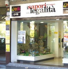 """Bottega dei Sapori e dei Saperi della Legalità"" of Libera Terra in Palermo, Sicily: there you can buy products (pasta, wine, oil,...) from the lands seized to the mafia 