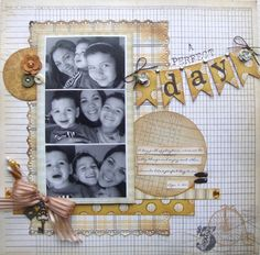 A Perfect Day - Scrapbook.com - An adorable layout using great My Mind's Eye products. #scrapbooking #mymindseye