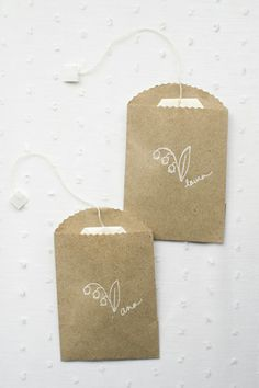I'll try ... making little sacks with message tags