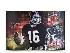 "6bec9cf9823 Joe Montana Autographed ""Cool Joe"" 36 x 24- $799.99 UpperDeckStore.com #"