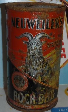 ULTRA RARE PRE-WW2 NEUWEILER'S BOCK OI IRTP FLAT TOP BEER CAN Beer Can Collection, Old Beer Cans, All Beer, Beer Labels, Brewery, Ww2, Bottles, Canning, Flat