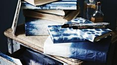 Create beautiful book covers and handmade wrapping paper with this technique