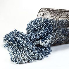 Love the indigo blue yarn we used to knit @three50west bulky throws. Take a look at 350west.com. Yarn by @loopymango #aportatextiles #Aporta #yarn #loopymango #interiordesign #design #homedecor #wool #indigo #knittersofinstagram #knitting #throw