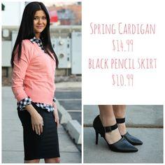 #cardigan #pencilskirt #flannel #heels #ootd #shopbellame