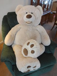 "HUGE 53"" Costco TEDDY BEAR HugFun Plush Giant Nursery Life Size Floppy Large XL #Hugfun #AllOccasion"