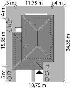 Projekt domu Kadyks 157,68 m2 - koszt budowy - EXTRADOM House Plans 2 Storey, Modern Family House, Divider, How To Plan, Architecture, Room, Furniture, Home Decor, My Dream House