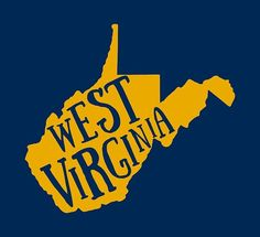 State Map, West Virginia, Country Roads, Virginia University, Movie Posters, T Shirt, College, Wall Art, Awesome