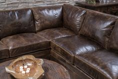 Gorgeous chocolate brown color distressed sectional with comfort and great style. Excellent craftsmanship and made in the U. Sectional Sofa With Recliner, W 6, Home Living Room, Home Furnishings, Arms, Track, Chocolate, Leather, Home Decor