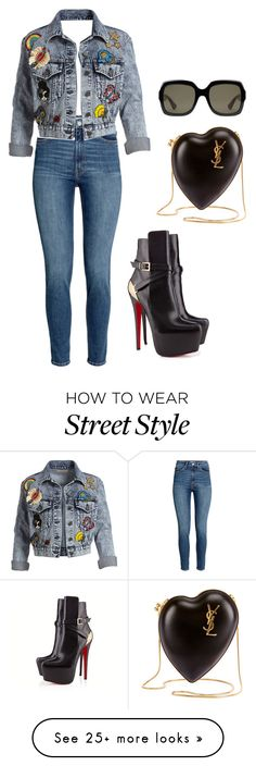 """""""Street style --- (ms)"""" by ale-pink5 on Polyvore featuring Yves Saint Laurent, Alice + Olivia, Gucci and Christian Louboutin"""
