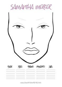 makeup face charts Fashion Illustration Face, Makeup Illustration, Makeup Face Charts, Face Makeup, Mac Face Charts, Face Template, High Fashion Makeup, Freelance Makeup Artist, Face Sketch