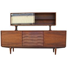 Excellent Skovby Rosewood Credenza and Hutch | From a unique collection of antique and modern credenzas at https://www.1stdibs.com/furniture/storage-case-pieces/credenzas/