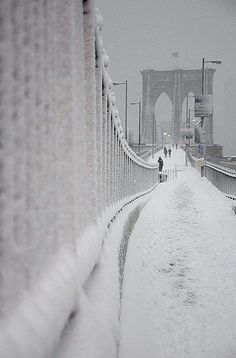 Snow Day   -   Brooklyn Bridge  -  2010  -   Charles Tibble photography  -   https://www.flickr.com/photos/tibble/4351796054/in/photostream/